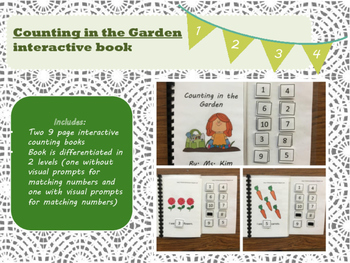 Counting in the Garden / Spring Interactive Book Autism, S