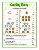 Counting money - money value practice test