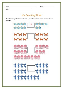 Counting numbers activity