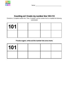 Counting on - 3-digit numbers (triple digit number practice) #BTSBONUS