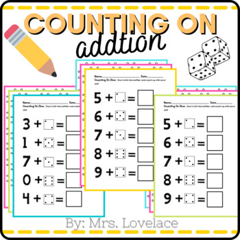 Counting on Addition Activities - Dice