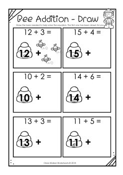 Counting on - Addition Strategy - Worksheets / Printables to teach Adding