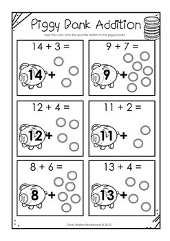 counting on addition strategy worksheets printables to teach adding. Black Bedroom Furniture Sets. Home Design Ideas