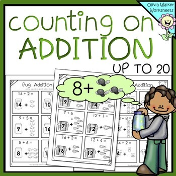 Counting on - Addition Strategy - Worksheets / Printables