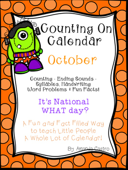 Counting on Calendar - Morning Work for October