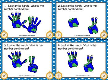 Counting on Columbus:  LOW PREP Columbus Day Themed Composing Numbers Task Cards