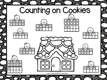 Counting on Cookies:  NO PREP Gingerbread Roll and Cover Ten Frames Game
