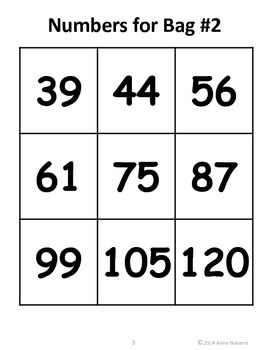 Counting on From a Number – Number Bags