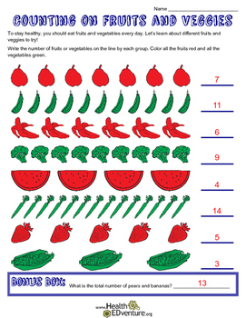 Fruit and Vegetable  Math