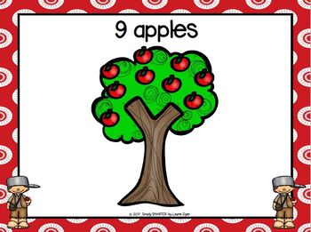 Counting on Johnny Appleseed:  LOW PREP Counting Play Dough Activity