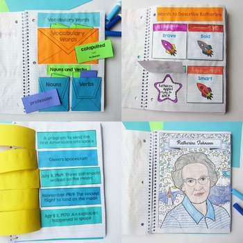 Counting on Katherine Interactive Notebook