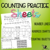 Counting on Number Lines, on Hundreds Charts and Counting Objects