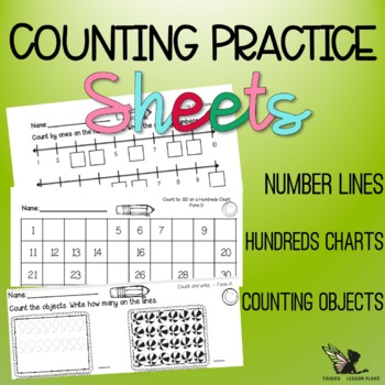 Numbers - Worksheets (Number lines, hundreds charts, and c