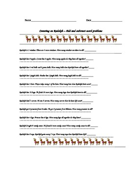 Counting on Rudolph an Art and Math Lesson Plan