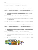 Counting on- Worksheet