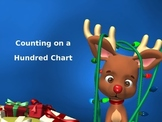 Counting on a Hundred Chart PowerPoint (Reindeer Theme)