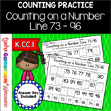 Counting on a Number Line 73 - 96 Worksheet