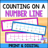 Counting on a Number Line Center - Printable & Digital