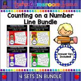 Counting on a Number Line Worksheet Bundle
