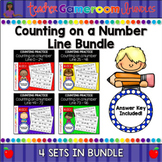 Counting on a Number Line Worksheet Bundle