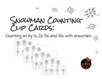 Counting on by 1s, 10s, 5s, and 2s- Winter Math Task Cards.