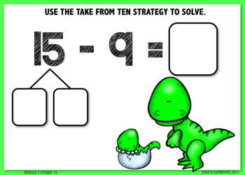 Counting on or Take from Ten Strategy BOOM CARDS [Module 2 Lesson 19]