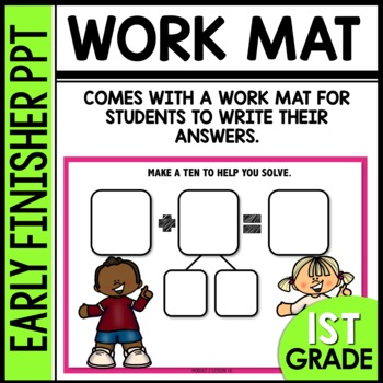 Early Finishers Activities | Counting on or take from ten strategy