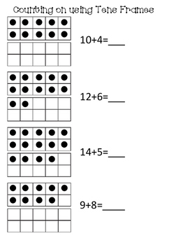Counting on using a tens frame