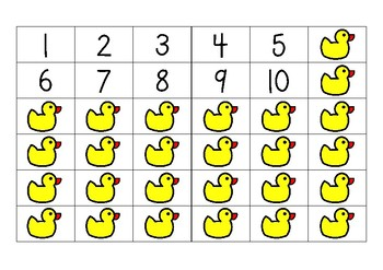 Counting out ducks 1-10
