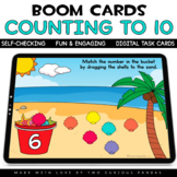 Counting seashells to 10 for Boom Cards™