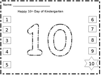 Counting the Days of Kindergarten