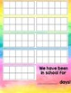 Counting the Days of School: Rainbow Watercolor Theme!