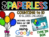 Counting to 10 Activity using Google Slides
