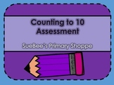 Counting to 10 Assessment