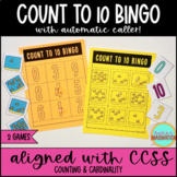 Counting to 10 BINGO Kindergarten & 1st Grade Math Games for Whole Group