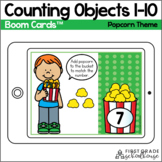 Counting to 10 BOOM CARDS™ |Popcorn Theme