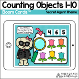 Counting to 10 BOOM CARDS™ | Secret Agent Theme