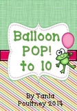 Counting to 10- Ballon POP! game to 10