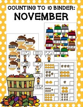 Counting to 10 Binder: November