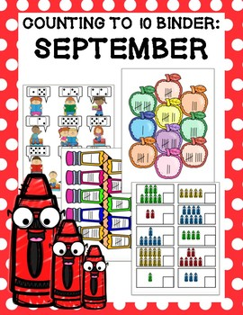 Counting to 10 Binder: September