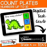 Counting to 10 Boom Cards   Dinosaur Theme (Kindergarten TEKS)