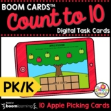 Counting to 10 Boom Cards™ Pre-K and Kindergarten Math Dis