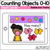 Counting to 10 BOOM CARDS™ | Bubble Gum Theme