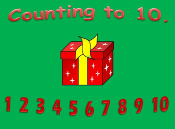 Counting to 10 Christmas Math Activitiy.