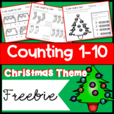 Counting to 10 Christmas Themed Worksheets