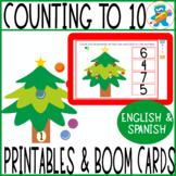 Counting to 10. Christmas Trees. Print, laminate and Play!