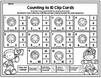 Counting to 10 Clip Cards