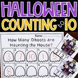 Counting to 10 Clip Cards Halloween Math Center Kindergarten Activity