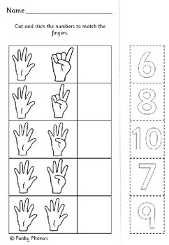 Counting to 10 - Cut and Stick Worksheets