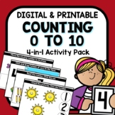 Counting to 10 Digital Google Slides and Seesaw Bundle for